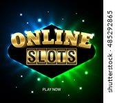 online slots casino banner ... | Shutterstock .eps vector #485292865