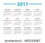 calendar 2017 year isolated on... | Shutterstock .eps vector #485293087