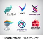 vector set of abstract logo... | Shutterstock .eps vector #485293399