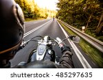 close up of a motorcycle | Shutterstock . vector #485297635