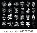 happy new year 2017 typographic ... | Shutterstock . vector #485299549