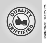 the certified quality and... | Shutterstock . vector #485299795