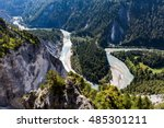 view of the rhine canyon in the ...   Shutterstock . vector #485301211