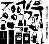 domestic set   vector | Shutterstock .eps vector #48530881