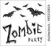 zombie party invitation. ... | Shutterstock .eps vector #485310814