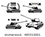Tank Icons Isolated On White...