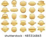 label vector icon set gold... | Shutterstock .eps vector #485316865