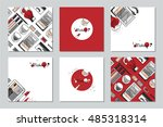 makeup artist business card.... | Shutterstock .eps vector #485318314