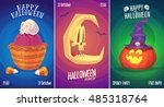 halloween illustration witch... | Shutterstock .eps vector #485318764