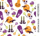 vector seamless pattern in... | Shutterstock .eps vector #485320801