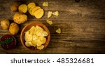 Salty Potato Chips Snack With...