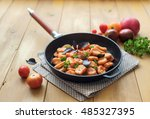 homemade gnocchi with tomato... | Shutterstock . vector #485327395