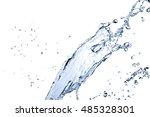 water splash isolated on... | Shutterstock . vector #485328301