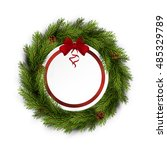 christmas greeting card with... | Shutterstock .eps vector #485329789