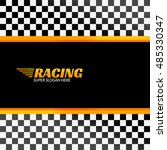 racing background with race...   Shutterstock .eps vector #485330347