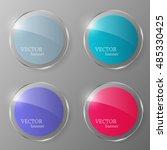glass banner set. glass button... | Shutterstock .eps vector #485330425