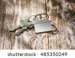 house key on a house shaped... | Shutterstock . vector #485350249