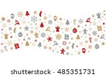 christmas colorful decoration... | Shutterstock .eps vector #485351731
