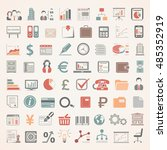 flat icons   business and... | Shutterstock .eps vector #485352919