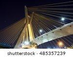 estaiada bridge sao paulo night ... | Shutterstock . vector #485357239