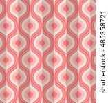 seamless vintage geometric... | Shutterstock .eps vector #485358721