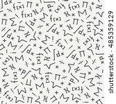flat monochrome vector seamless ... | Shutterstock .eps vector #485359129