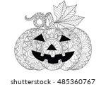 doodle design of halloween... | Shutterstock .eps vector #485360767
