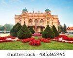 slowackiego theater in summer... | Shutterstock . vector #485362495