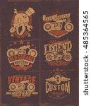 vintage motorcycle typography... | Shutterstock .eps vector #485364565