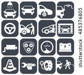 vector auto car icons set | Shutterstock .eps vector #485376805