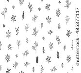 seamless pattern of branches... | Shutterstock .eps vector #485377117