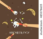 archeology science. ancient... | Shutterstock .eps vector #485378635