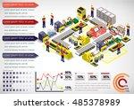illustration of info graphic... | Shutterstock .eps vector #485378989