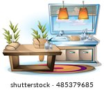 cartoon vector illustration... | Shutterstock .eps vector #485379685