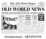 old newspaper vintage design....   Shutterstock .eps vector #485390749