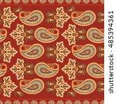 paisley seamless pattern | Shutterstock .eps vector #485394361