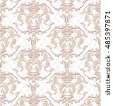 vintage vector luxury baroque... | Shutterstock .eps vector #485397871
