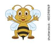 nice bee. | Shutterstock .eps vector #485398969