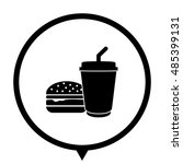 fast food   black vector icon   ... | Shutterstock .eps vector #485399131