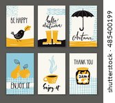 set of six vector autumn... | Shutterstock .eps vector #485400199