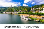 romantic river cruises over... | Shutterstock . vector #485404909