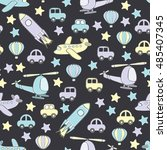 baby seamless colorful pattern... | Shutterstock .eps vector #485407345