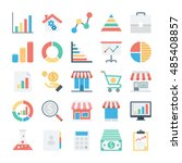market and economics colored... | Shutterstock .eps vector #485408857