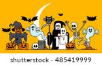 vector illustration   halloween ... | Shutterstock .eps vector #485419999