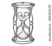 decorative antique death... | Shutterstock .eps vector #485424139