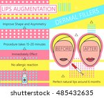 infographic about lips... | Shutterstock .eps vector #485432635
