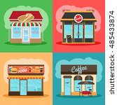 restaurant or fast food store...   Shutterstock .eps vector #485433874
