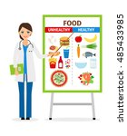 nutritionist or dietician... | Shutterstock .eps vector #485433985