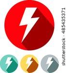 lightning bolt vector icon | Shutterstock .eps vector #485435371