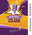 karaoke party vector poster.... | Shutterstock .eps vector #485435875
